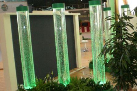 интерьер с пузырьковыми панелями