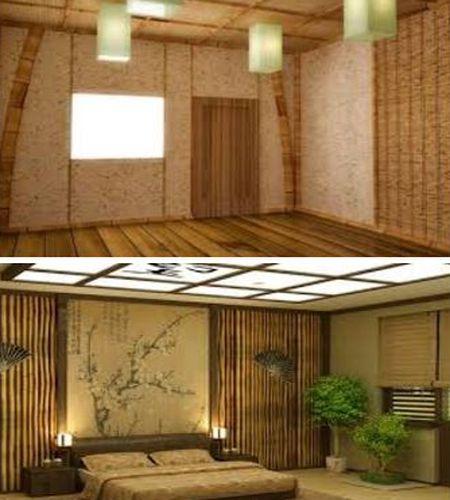 обои из бамбука в доме