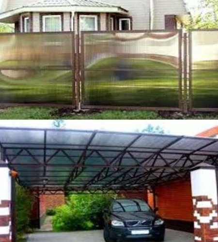 сферы применения сотового поликарбоната