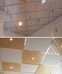 какой потолок сделать в ванной - кассетный