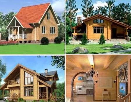 дома построенные из клееного бруса