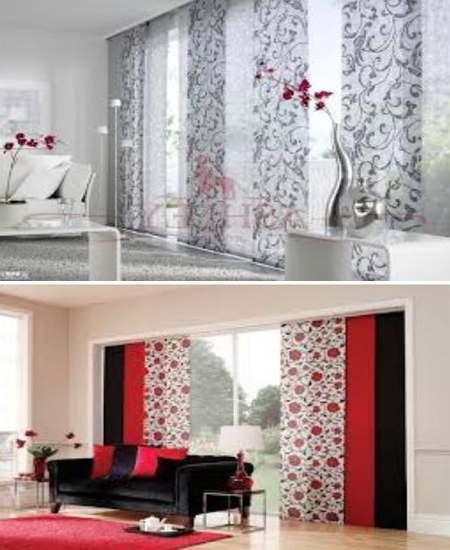 японские шторы-панели в декоре дома