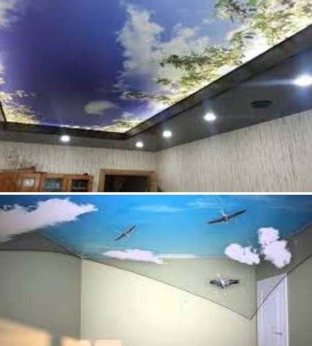 дизайн интерьера - 3d натяжные потолки