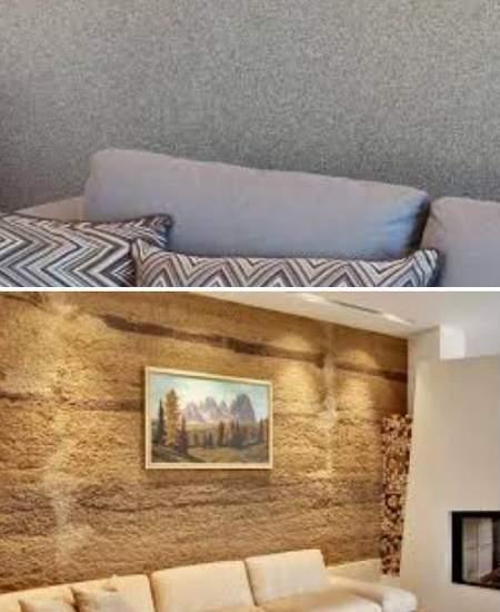 камешковая штукатурка в отделке стен