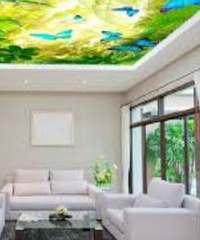 3d потолок натяжной