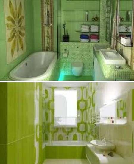 салатовый цвет для ванной комнаты