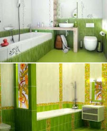 ванная комната салатовый цвет интерьера