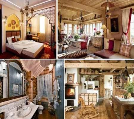 дом в русском стиле интерьера
