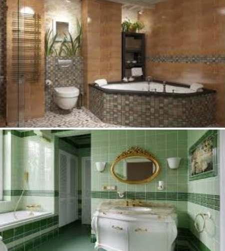 средиземноморский интерьер ванной