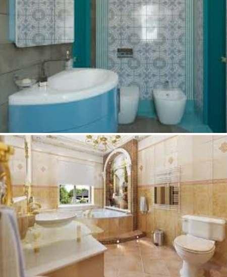 ванная - оформление в средиземноморский стиль