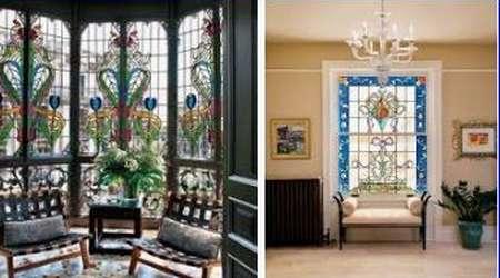окна и двери с витражами