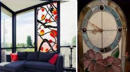зеркала и часы как витражи в интерьере