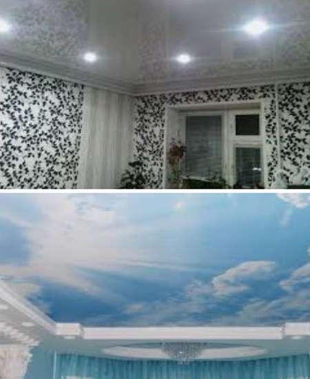 интерьер с натяжными потолками
