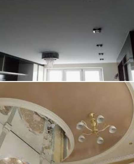 потолки натяжные в дизайне интерьера