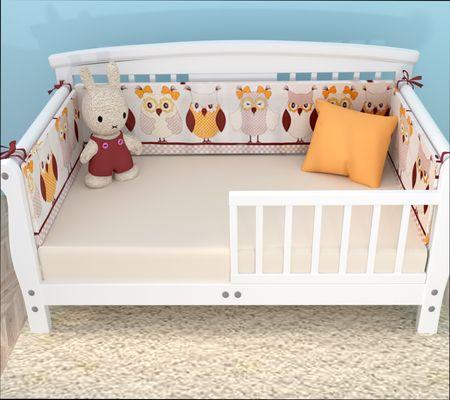 виды бортиков к детской кровати