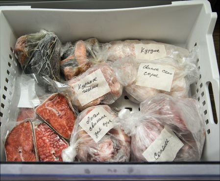 храним продукты в морозильной камере