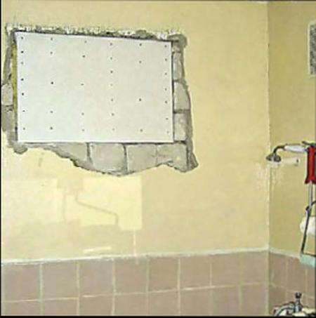 Как заделать окно между кухней и ванной
