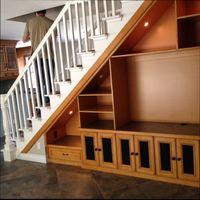шкафы под лестницей - интересные идеи