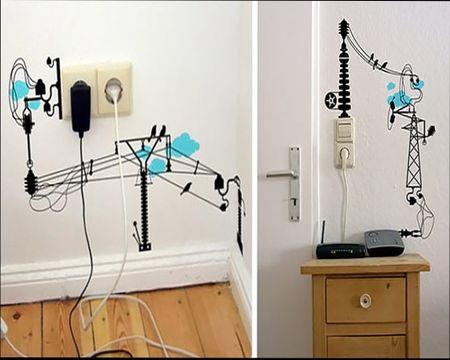 Как спрятать провода в квартире