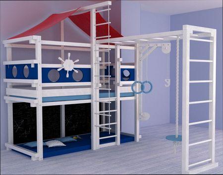 Кровати в виде домика для детей